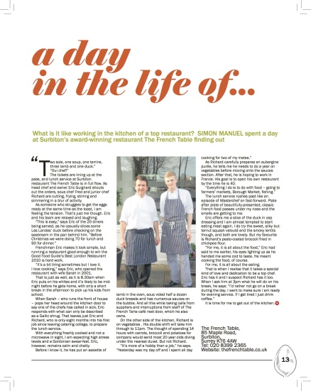 A day in the Life Print Issue
